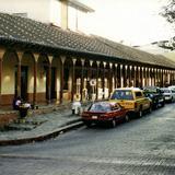 Portales de madera en el centro de Comitán de Domínguez, Chiapas