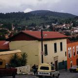 Casas con techos de dos aguas. Real del Monte, Hidalgo