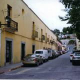 Arquitectura colonial en la calle Morelos. Tlaxcala de Xicohténcatl, Tlaxcala