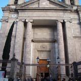 Fachada de estilo Neoclásico de la Catedral de Tulancingo, Hidalgo