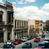 Arquitectura colonial en la calle Tacuba. Zacatecas, Zacatecas