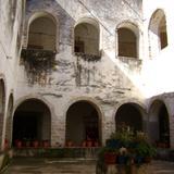 Claustro del ex-convento de San Miguel, siglo XVI. Acatlán, Hidalgo