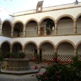 Reloj de sol en el claustro del ex-convento de Tulancingo, Hidalgo