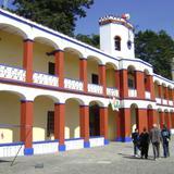Fachada actual de la Ex-hacienda de San Antonio Chautla. Edo. de Puebla. 2011