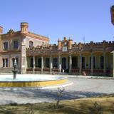 Fachada de estilo medieval de la Ex-hacienda Soltepec, siglo XVIII. Edo. de Tlaxcala