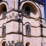 Torre-campanario de estilo mudéjar (siglo XVI). San Cristobal de las Casas. 2002