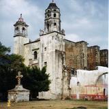 Atrio y ex-convento de la Natividad (siglo XVI). Tepoztlán. 1994