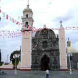 Portada de cantera negra del templo de San Nicolás de Bari. Junio/2011