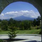 Arco de piedra y el volcán La Malinche. Septiembre/2011