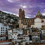 Vista de Santa Prisca por dia El Viernes Santo