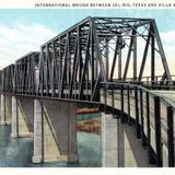 Puente internacional entre Del Río, Texas y Villa Acuña, Coahuila