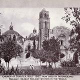 Iglesia de Cuautla, usada como estación del Ferrocarril Interoceánico