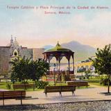Templo y plaza principal de Alamos