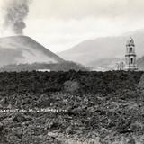 Templo de Parangaricutiro, cubierto de lava