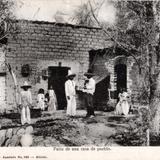 Patio de una casa de pueblo