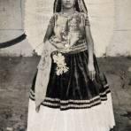 Tehuana en vestido de novia