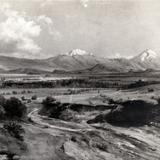 Los volcanes desde el Valle de México
