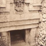 Interior de una tumba. Ruinas de Monte Albán