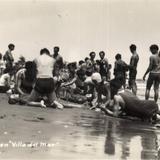 Bañistas en Villa del Mar