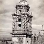 Campanario del templo de San Francisco Acatepec
