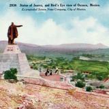 Monuento a Juárez y vista panorámica de Oaxaca