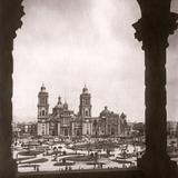 Zócalo y Catedral desde el Palacio Municipal