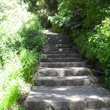 Escalinatas a la zona arqueologica