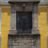 Detalle en cantera fechado en 1608, ex-convento de San Antonio. Junio/2012