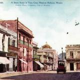 Una calle de Veracruz