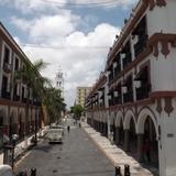 Calle Zamora y Palacio Municipal de Veracruz. Julio/2012