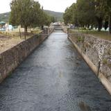 Vertedero de la presa de San Antonio Regla. Octubre/2012