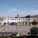 """Plaza central de la cd. de Yuriria, Gto. """"Pueblo Mágico"""". Noviembre/2012"""