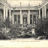 Patio del Hotel Washington (hoy Plaza Fundadores)