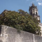 La torre de la parroquia de Mineral del Chico. Mayo/2013