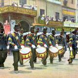 Primer Centenario de la Independencia: Banda militar del ejército mexicano