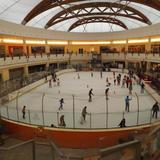 Pista de hielo en Plaza Milenium. Agosto/2013