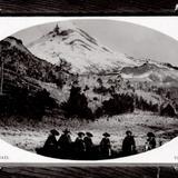 Excursionistas a caballo en el Volcán Iztaccíhuatl (circa 1909)