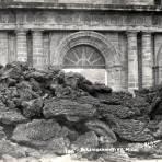 Templo cubierto de lava