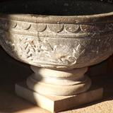 Pila bautismal tallada en cantera siglo XVI. Mayo/2014