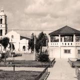 Agua Prieta, plaza central, 1957