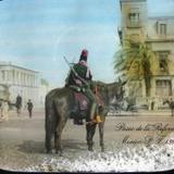 Soldado en el Paseo de la Reforma Hacia 1908