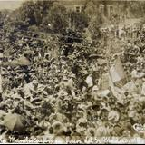 Manifestantes en honor a Madero