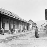 Calle en Amecameca (por William Henry Jackson, c. 1888)