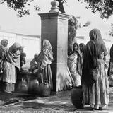 Fuente cerca del Santuario de Guadalupe (por William Henry Jackson, c. 1888)