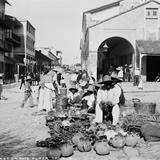 Mercado en la Plaza de Armas (por William Henry Jackson, c. 1888)