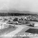 Caravana de casas móviles en San Blas