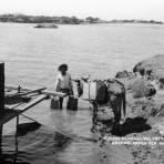 Aguador en el Río Papaloapan
