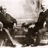 Luis E. Torres, gobernador de Sonora, y Ramón Corral, vicepresidente de la república (ca. 1908)