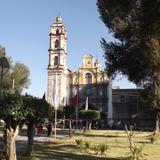 Atrio y Parroquia de Santa Cruz Tlaxcala. Marzo/2015