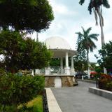 Kiosko en la plaza principal de Tempoal